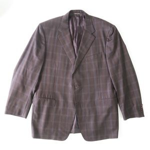 Canali Plaid Two Button Sport Coat Jacket